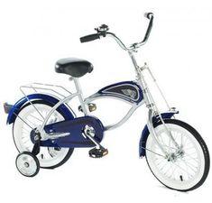 Cruiser Bicycle with Training Wheels Blue, toddler bike, retro kids bike - UKsportsOutdoors Toddler Bike, Kids Bike, Mountain Bicycle, Mountain Biking, Bike With Training Wheels, Cruiser Bicycle, Road Bike Women, Bikes For Sale, Ride On Toys