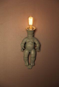 baby doll sconce--creepy