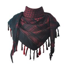 Explore Land Cotton Military Shemagh Tactical Desert Keffiyeh Scarf Wrap (Black and Red) Shemagh Scarf, Arab Scarf, Sherlock Scarf, Mens Cashmere Scarf, Black Background Images, Fall Scarves, Stripes Fashion, Head And Neck, Square Scarf