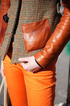 Pop of orange #autumn #fashion #Sewcratic