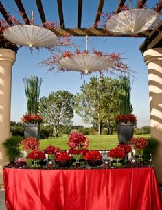 nice idea for a buffet table!! great for summer... can´t wait!