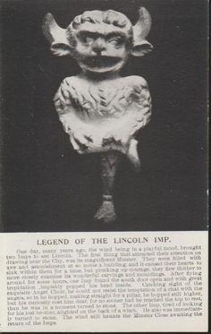 Legend Lincoln Cathedral Imp Satan vs Angels England UK Vintage c1905 PC Rare. | eBay!