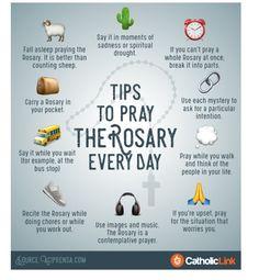 Tips to pray the Rosary every day Catholic Prayers, Praying The Rosary Catholic, Catholic Religious Education, Catholic Religion, Catholic Kids, Catholic Quotes, Rosary Quotes, How To Pray Rosary, Prayers Of The Rosary