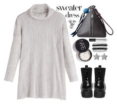 """Sweater dress"" by simona-altobelli ❤ liked on Polyvore featuring Illamasqua, Effy Jewelry, Gucci, StreetStyle, dress, MyStyle, polyvorecontest and sweaterdresses"
