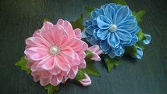 D.I.Y. Satin Kanzashi Flower - Tutorial