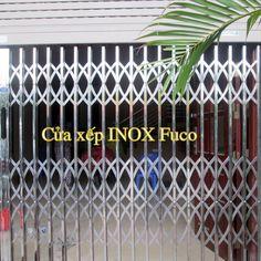 Cửa xếp INOX chống trộm biệt thự Fuco