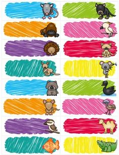 Editable Book Labels – Free- Australian Animals by Learning with Leonie | Teachers Pay Teachers