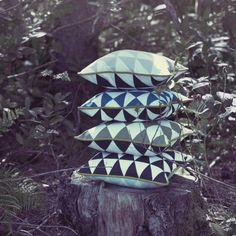 Ferm Living lille geometry pude DKK199