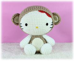 PDF Pattern Amigurumi Hello Kitty in Monkey Costume / by furinn, $5.50