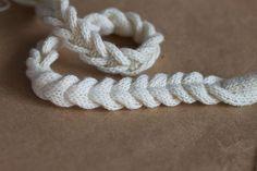 Crochê Tricô: Cordão Trançado em Tricô