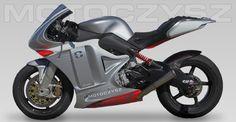 Motoczysz C1 990 Twin crank triple OHC Wet deep sump Z-line 4 electric superbike.