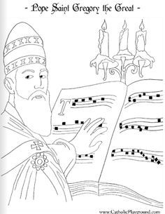 gregory the great coloring pages pope saint gregory the great catholic coloring page feast