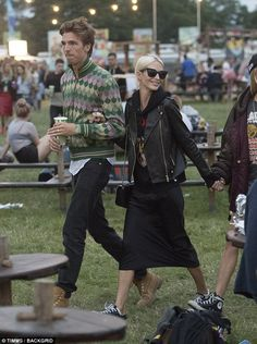 Poppy Delevingne and James Cook party at Glastonbury festival #dailymail