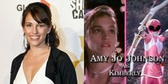 Then and Now: The Mighty Morphin Power Rangers - Amy Jo Johnson as Kimberley aka the Pink Ranger Amy Jo Johnson, Pink Power Rangers, International Friendship Day, Mighty Morphin Power Rangers, Classic Films, Then And Now, Childhood Memories, Best Friends, Tv Shows