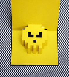 8 BIt Pop Up Cards. . . .with the popularity of Minecraft, these could be a big hit