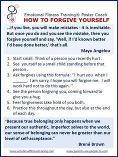 Improving Emotional Intelligence by practicing forgiveness.