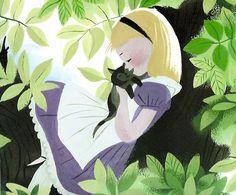 "I love love love, Mary Blair! ""Alice in Wonderland"" Concept art by Mary Blair. Mary Blair, Walt Disney, Disney Love, Disney Magic, Disney Wiki, Alice In Wonderland 1951, Adventures In Wonderland, Illustration Arte, Illustrations"