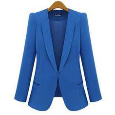New 2014 Blazer Women casacos femininos Basic Jackets women blazer slim coat Candy Color Blazers suits on http://ali.pub/mkqgu