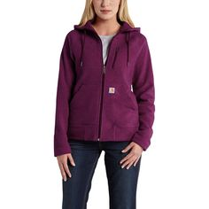 The new Carhartt Women's Kentwood Fleece Jacket combines classic Carhartt styling with updated materials for a jacket that you'll be happy to wear from the ranch to a night out with your friends, and anywhere in between. To ensure that you'll enjoy your jacket for years to come, Carhartt added anti-pill fleece, since nobody likes to be kicked off their friend's couch for shedding too much. Two large hand-warmer pockets and a zippered chest pocket give you plenty of room to carry a phone, ...