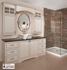Classique et l gance belle vanit en polyester - Armoire de salle de bains ...