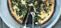 Grønnkålpai Vegetable Pizza, Quiche, Dinners, Tasty, Vegetables, Breakfast, Food, Dinner Parties, Morning Coffee