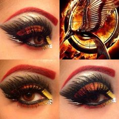 Catching Fire makeup! :)