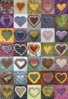 Hearts is a 500 piece puzzle from Educa. Puzzle measures x when complete. 500 Piece Puzzles, Artsy, Crafty, Quilts, Blanket, Cool Stuff, Warehouse, Squares, Crocheting