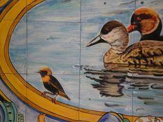 Spanish Ceramic Tile Mural in Aquarium
