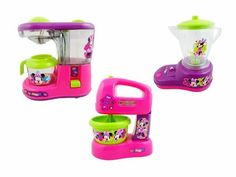 Kit 3 Mini - Cafeteira Batedeira Liquidificador Minnie Bow Tique - R$ 98,99 no Mercado Livre.