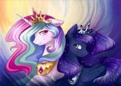 Two princess by Mausefang.deviantart.com on @DeviantArt