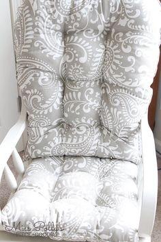 Glider Cushions Rocker Cushions Chair Cushions Glider | Etsy Glider Replacement Cushions, Glider Rocker Cushions, Chair Cushions, Sit On Top, Custom Cushions, Cushion Fabric, Gliders, Ottoman, Blanket