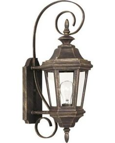 Wildon Home ?? Estate Small Wall Lantern 16312AP Finish: Antique Patina
