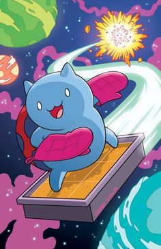 This is Catbug, a character designed by CartoonHangover. They're an independent animation company that manages to produce hilarious and weird shows out of mostly donations Pendleton Ward, Warriors Wallpaper, Chibi, Bravest Warriors, Kawaii, Sign Printing, Cute Cartoon, Cartoon Art, Miraculous Ladybug