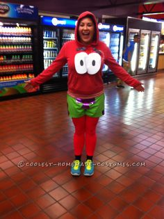Funny and Inexpensive DIY Patrick Costume from SpongeBob… Coolest Halloween Costume Contest