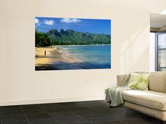 Anahola Beach Park Near Kapaa Wall Mural by Ann Cecil at AllPosters.com