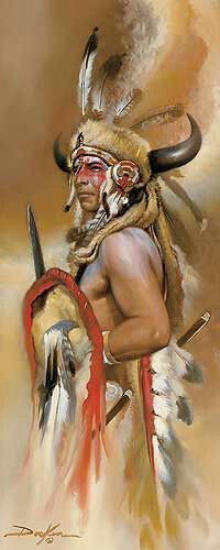 'Look of War' by Russ. Shared by Cherokee Warrior.