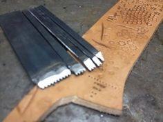 Creando peine para marcar cuero