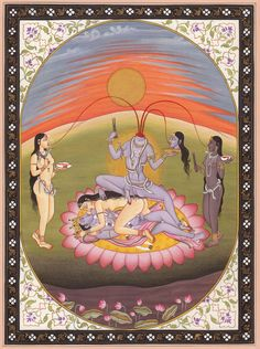 Chinnamasta, Tantric goddesses and a ferocious aspect of Devi, the Hindu Divine Mother.