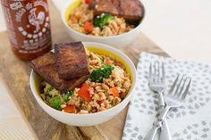 Peanutty Quinoa Bowls with Baked Tofu Recipe