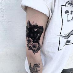 Black cat – Aquarell tattoo – Source by Black Cat Tattoos, Animal Tattoos, Head Tattoos, Body Art Tattoos, Tatoos, Tattoo Names, Tattoo Neck, Tattoo Music, Tattoo Hand
