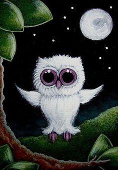 TINY ALBINO OWL 1ST FLY