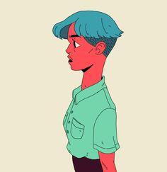 Rojo on Behance Art Hoe, Animated Cartoons, Love Drawings, Pretty Art, Cartoon Styles, Art Inspo, Art Reference, Cool Art, Disney Characters