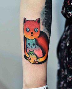 4810ceb6ffb36 Puma Cat Outline Tattoo   Cat Outline Tattoo   Cat outline tattoo ...