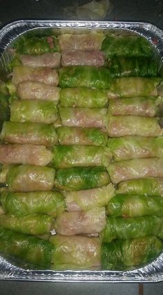 Cabbage leaves stuffed with ground beef, onion and rice, covered in a sweet and tangy tomato sauce a Slow Cooker Beef, Slow Cooker Recipes, Beef Recipes, Cooking Recipes, Healthy Recipes, Napa Cabbage Recipes, Cabbage Rolls Recipe, Cooking White Rice, Cabbage Leaves