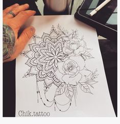 𝙿𝚒𝚗𝚝𝚎𝚛𝚎𝚜𝚝: @ 𝚝𝚑 . - # 𝚝𝚑 # 𝙿𝚒𝚗𝚝𝚎𝚛𝚎𝚜𝚝 diy tattoo - diy tattoo images - diy tattoo ideas - Mandala Flower Tattoos, Mandala Tattoo Design, Flower Tattoo Designs, Tattoo Designs For Women, Back Tattoos For Women, Mandala Hip Tattoo, Thigh Tattoo Designs, Leg Tattoos, Body Art Tattoos