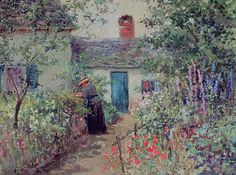 The Athenaeum - The Flower Garden (Abbott Fuller Graves - )