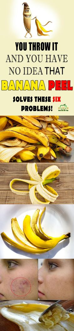Bananas have many benefits, even their peel is healthy, but we throw it. Some nations, like India, use the peel and take advantage of its positive sides. Teeth whitening In a two week period, rub the teeth with the inside of the banana peel, and you will have whiter teeth.
