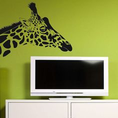Giraffe Head Wall Decal Vinyl Decor by Stickyzilla on Etsy, $15.99