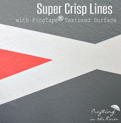 super crisp lines with #frogtape textured surface