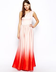 Ted Baker Daneka Maxi Dress with Dip Dyed Hem at ASOS. Shop this season's must haves with multiple delivery and return options (Ts&Cs apply). Prom Dresses With Sleeves, Bridesmaid Dresses, Maxi Dresses, Bridesmaids, Ted Baker Dress, Latest Dress, Celebrity Weddings, Evening Gowns, Party Dress